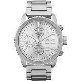 DIESEL 忍者戰將時尚計時腕錶-銀 DZ5301