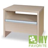 最愛傢俱 北歐風情(木面) - 白橡洗白 床頭櫃