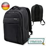 曜兆DIGITUS 15.6吋 時尚護脊輕量高保護後背包(黑色) -限時購買加送德國手機支架(送完為止)