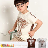 魔法Baby~前後印非洲象雙色T恤~DODOMO品牌系列~男童裝~k26948