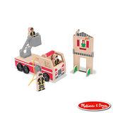 美國瑪莉莎 Melissa & Doug 小人國系列 - 木製消防救火組