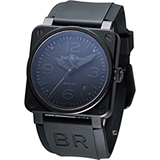 Bell & Ross 隱形戰機機械錶BR0392-PHA-SRU全黑