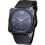 Bell & Ross 晶鑽陶瓷時尚腕錶-(BRS-BL-CE-PH-LGD-SRU)黑色