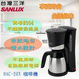 台灣三洋 SANLUX 12人份1000cc義式咖啡機 SAC-20X