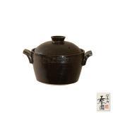 【日本長谷園伊賀燒】電鍋造型小砂鍋(黑)