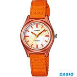 CASIO 夏日陽光季亮彩腕錶 LTR-16B-4E2 夕陽橘