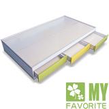 最愛傢俱 田園風格 蘋果派 子拉床+記憶床墊 (附有3格抽屜可使用)