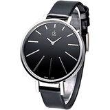 cK 完美簡約時尚名伶腕錶-黑