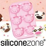【Siliconezone】施理康耐熱粉紅小豬造型瑪芬蛋糕模