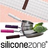 【Siliconezone 】施理康耐熱矽膠方格防燙鍋把套-白色