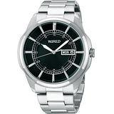 WIRED New Standard 原創玩家風格腕錶-黑/銀 7N43-X004D