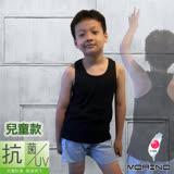 【MORINO】兒童抗菌防臭運動背心(挖背款) - 黑色