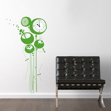 【Smart Design】創意無痕壁貼◆花樹鐘8色可選(含時鐘機芯)