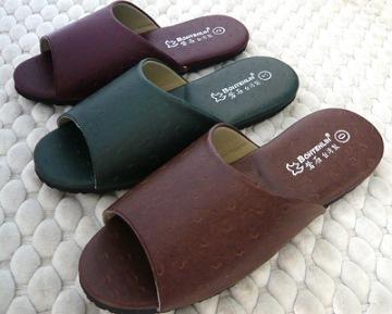 (e鞋院)[時尚駝鳥紋]室內拖鞋~可水洗~