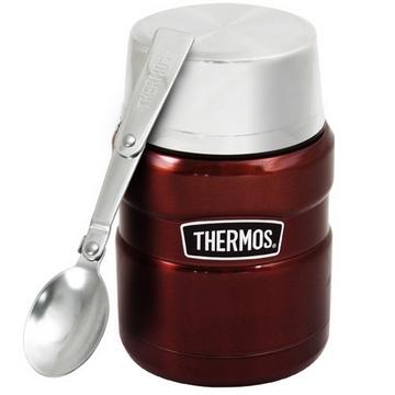 【THERMOS膳魔師】不鏽鋼真空保溫杯瓶470ml-咖啡紅CP6