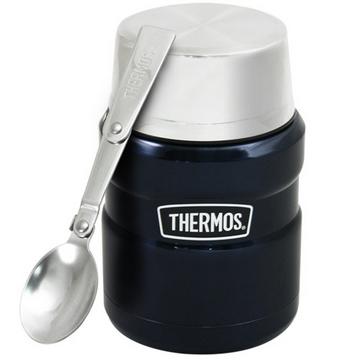 【THERMOS膳魔師】不鏽鋼真空保溫杯瓶470ml-深藍色MB6