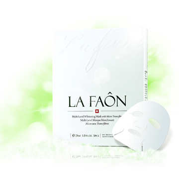 LA FAON萊慕思 天絲絨肌因淨白面膜(5片/盒)