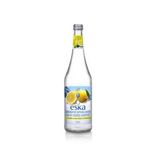 加拿大eska愛斯卡檸檬氣泡冰川水 玻璃瓶750mlx12瓶 (箱)