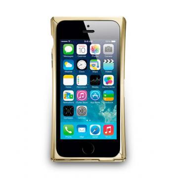 iPhone 5/5s- V-Trim- 可立式鋁合金保護框- 香檳色