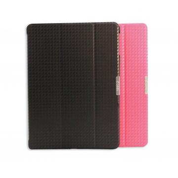 Obien 歐品漾 APPLE iPad Air 半包式保護套 - 專利擴音凹槽(桃紅)