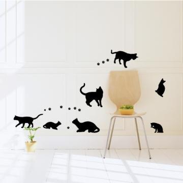 【Smart Design】創意無痕壁貼◆玩耍貓咪 8色可選