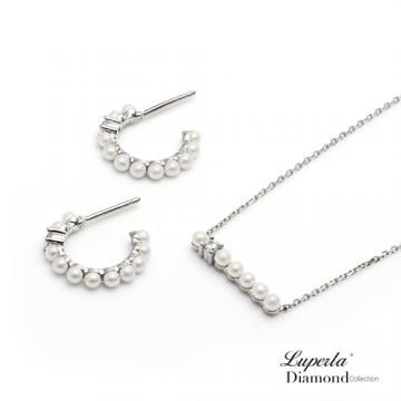大東山珠寶 跳舞精靈 施華洛世奇水晶珠純銀晶鑽項鍊耳環套組
