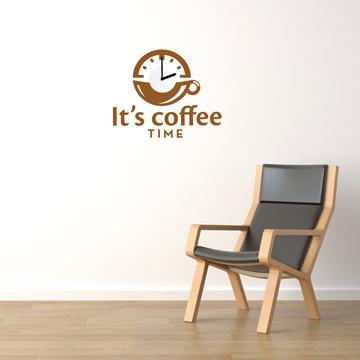 【Smart Design】創意無痕壁貼◆咖啡時光(含時鐘機心)