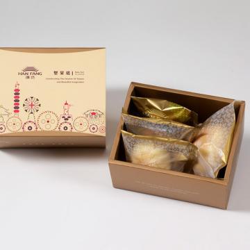 漢坊【典藏】綜合4入禮盒★蛋黃酥+漢坊金沙小月+什錦堅果塔+鳳梨酥(蛋奶素)