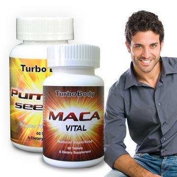 【Turbo Body】魅力熟男組-精益猛強效瑪卡錠+南瓜籽油
