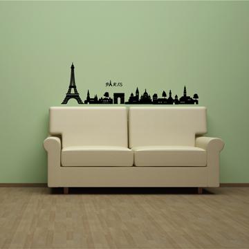 Smart Life 創意無痕壁貼◆巴黎城市