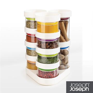 《Joseph Joseph英國創意餐廚》太空積木收納罐(十件組-白)