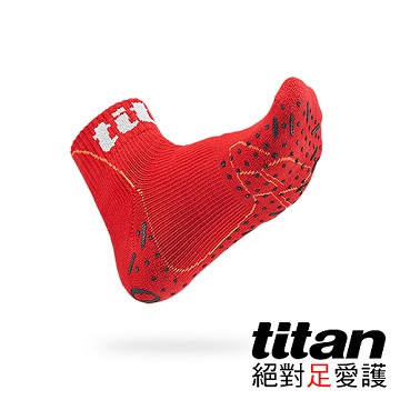 Titan側向運動襪-Elite[紅]