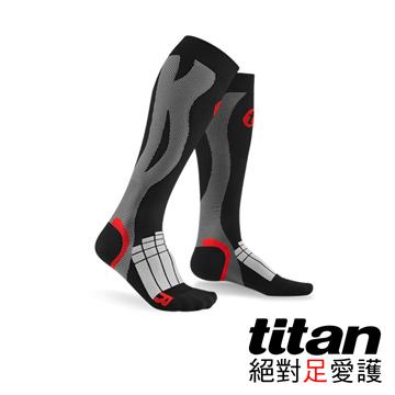 Titan壓力運動襪-Elite[黑/灰]