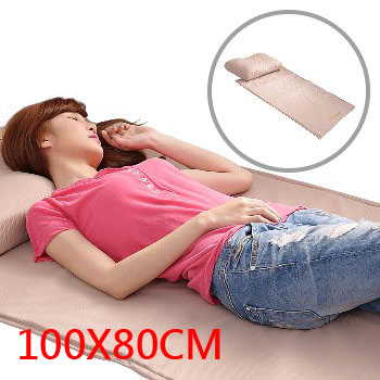 《美加寶》【電熱】遠紅外線負離子養生健康床墊 (100X80 cm) (外出方便)(第二代能量加強型)