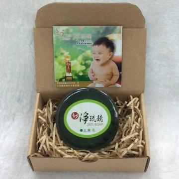 【中秋特賣會買二送一】《淨琉璃ZEN SOAP》手工美容皂【100g】玉蘭花(綠色)