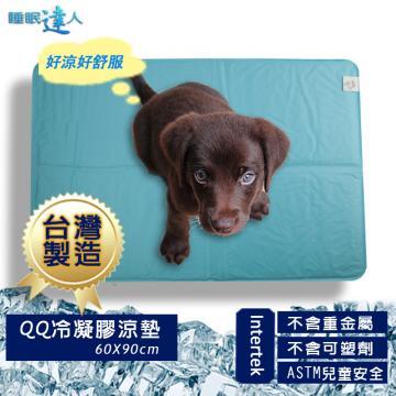 【睡眠達人】QQ冷凝膠寵物涼墊涼蓆(60x90cm*1件),夏月節電,抗暑必備,台灣專利+製造