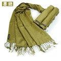 印度皇家~純天然絲織 絲光棉 披肩(墨綠)/絲巾/圍巾印度進口萬用百搭時尚精品