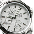 CASIO卡西歐 三眼錶 日期星期顯示 不銹鋼 灰白色面 37mm 男錶 MTP-1246D-7A MTP-1246D-7AVDF