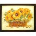 [大]橫幅~原木鑰匙盒壁飾禮物..向日葵