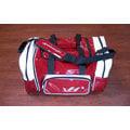 「野球魂」--「HATAKEYAMA」大型遠征袋(BA-750,酒紅×白色)