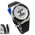 AQ-164W-7AVDF CASIO AQ-164W-7A 雙顯膠帶錶-日本機芯-第二時間功能/貪睡裝置/碼表功能(白色) 男錶 電子錶 手錶 碼錶