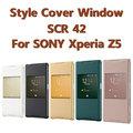 【原廠智慧型視窗】SONY SCR42 Z5 E6653 專用手機皮套/NFC 時尚視窗保護套/翻頁式側開保護殼