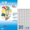 Unistar 裕德3合1電腦標籤 #U2609 (100張/盒)