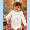 【西班牙 Abanderado】(a966)嬰兒連身衣磨毛長袖 淺米大熊(尺寸12/18/24)