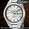 SEIKO 手錶 國隆 SNK613K1 (白色)精工五號機械男錶(另SNK617K1黑色款)全新有保固 台中門市 開發票
