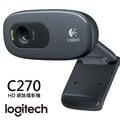 【電子超商】Logitech 羅技 C270 HD視訊攝影機 WebCAM 網路攝影機 HD 720p 內建具降低雜音功能的麥克風