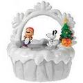 美國進口精品 史努比 Snoopy 聖誕節水晶球旋轉音樂盒 耶誕節最佳禮物 Linus & Lucy