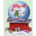 美國進口精品 史努比 Snoopy 聖誕水晶球音樂盒 耶誕最佳禮物 Up On ARooftop