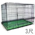 ☆米可多寵物精品館☆3尺靜電式狗籠黑色靜電烤漆摺疊狗籠貓鼠兔籠超低價