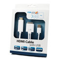 【iOS9 HDMI帶USB】APPLE New iPad3/iPad2/iPhone4S/4 HDMI Cable 視訊轉換線/高解析轉接線/帶充電/轉投影機/電視